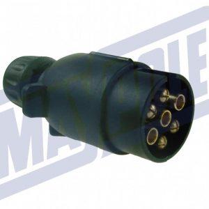 12V 'N' type 7 pin plastic plug